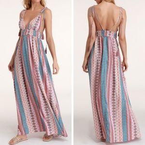 Lulu's Maxin' Relaxin' Multi Print Maxi Dress M